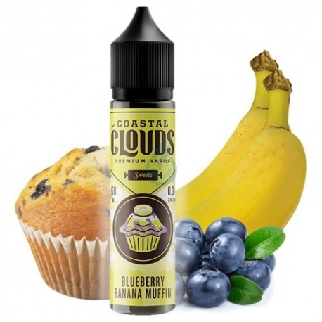 Coastal Clouds: Blueberry Banana Muffin